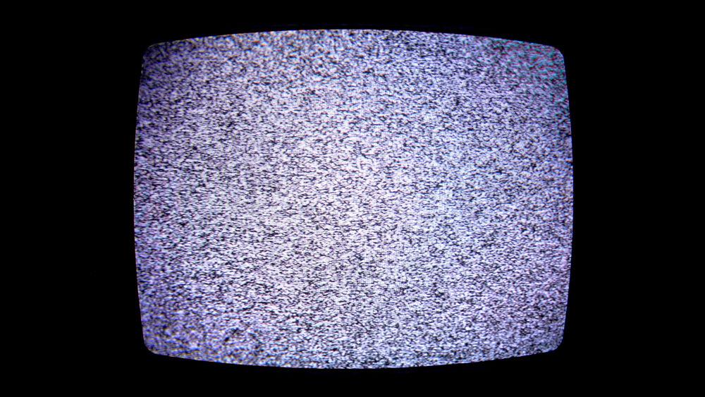 White noise on a television set