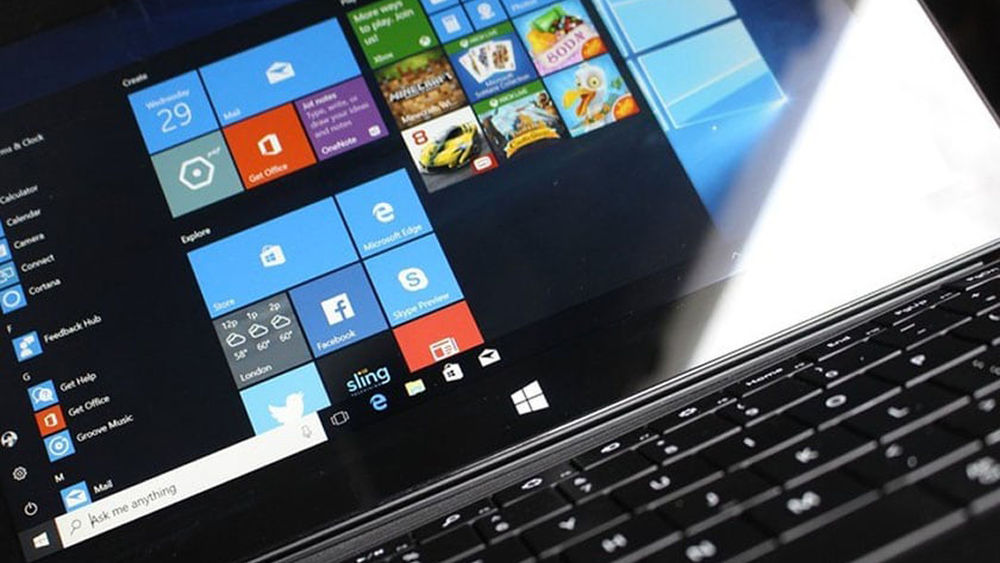 A laptop running with Windows 10