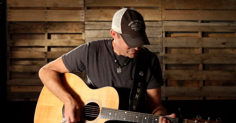 Carl Wayne Meekins on the set of his Someday Soon music video shoot in Nashville, TN.