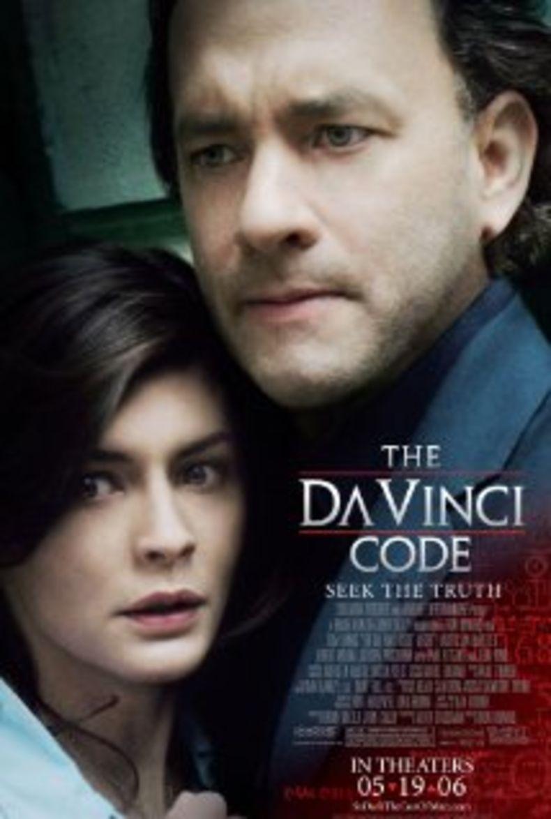 """Poster for the movie """"The Da Vinci Code"""", starring Tom Hanks"""