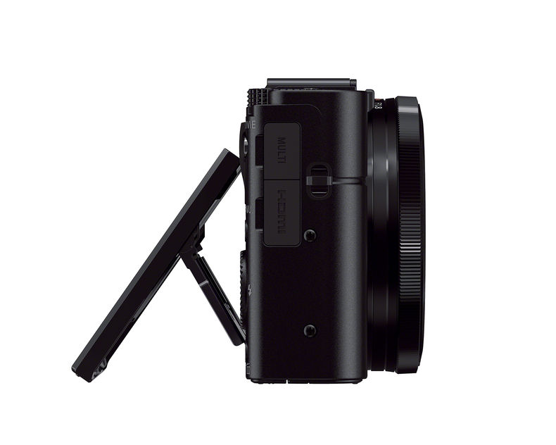Tilt viewfinder on the Sony Cyber-shot RX100M II compact camera