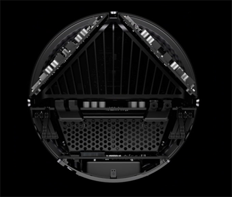 Apple MacPro - a look inside the system from the top