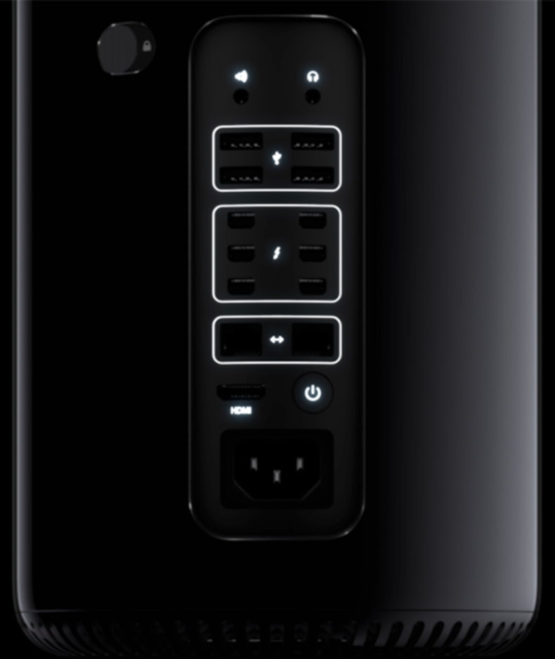Apple MacPro operating controls