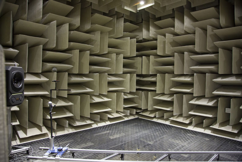 interior of an anechoic chamber
