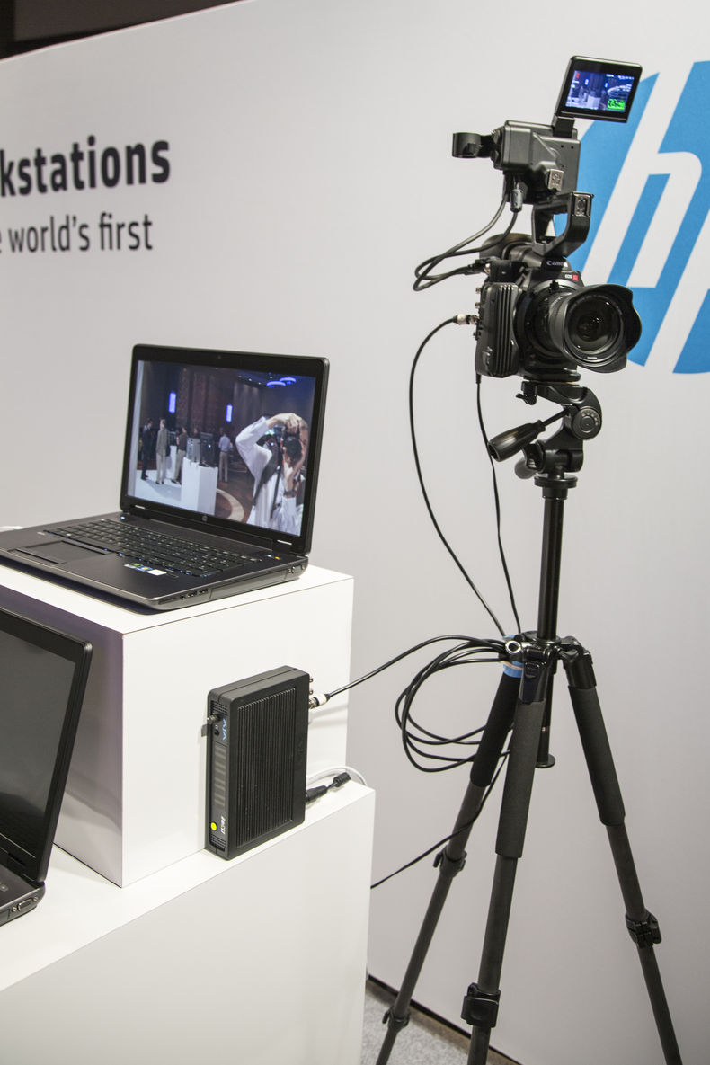 A Canon C500 feeding 4K footage into the ZBook 17