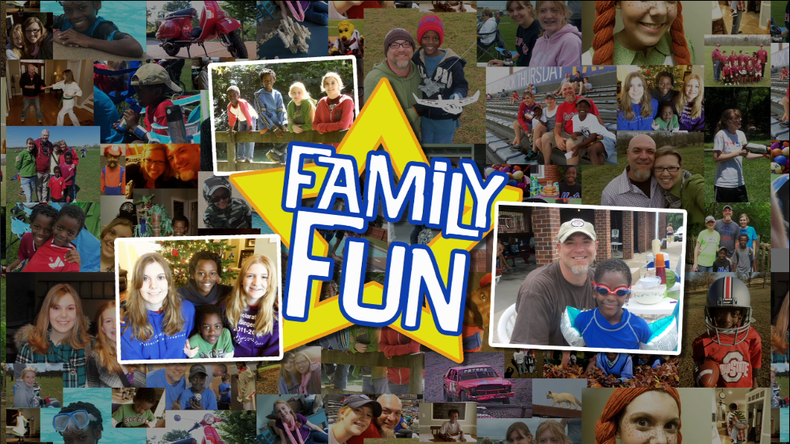 """Final step: Animating your collage and adding title graphics """"Family Fun"""""""