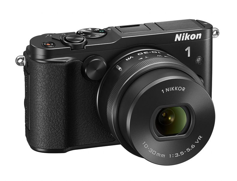 Nikon 1 V3 mirrorless camera without optional viewfinder and hand grip
