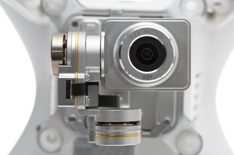 camera straight on beneath a drone