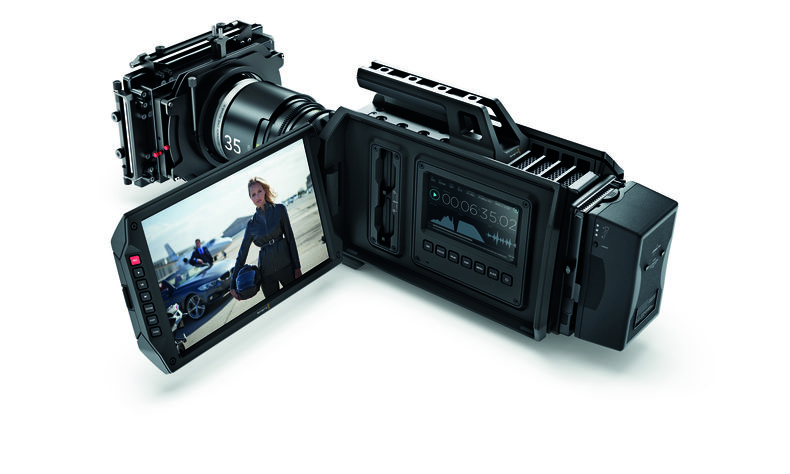 Large camera with large monitor flipped out