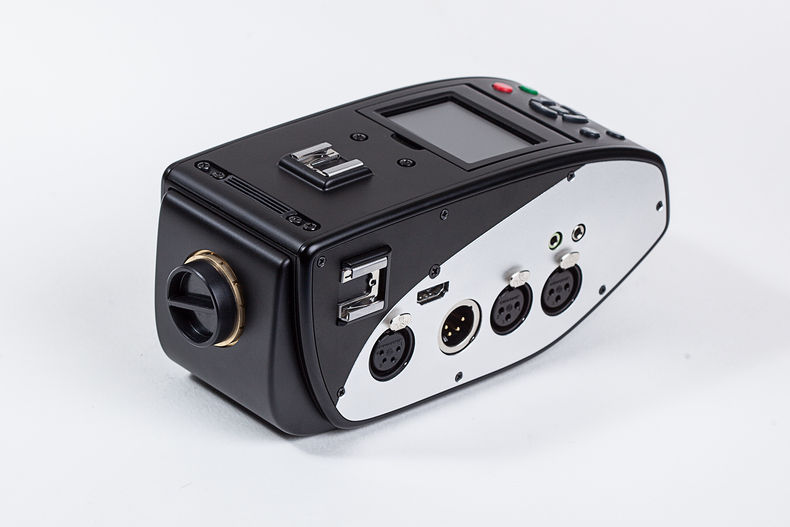 16mm camera body with XLR ports and no lens