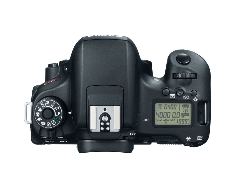 Canon Rebel T6s - top LCD and control dial