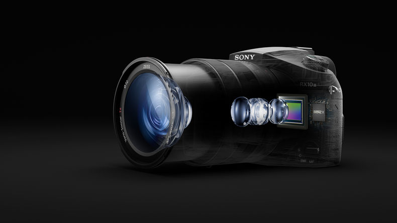 Sony RX10 III with elements exposed