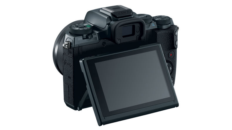 Canon EOS M5, tilting display