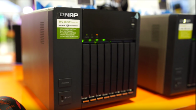 Best Storage: Qnap TVS-882ST3 Thunderbolt 3 NAS