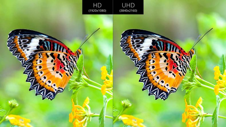 Another HD and Ultra HD side by side comparison