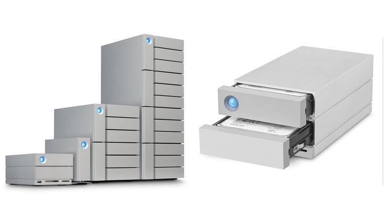 Two images of different storage sizes for the 2big Dock and the 2big Dock opened