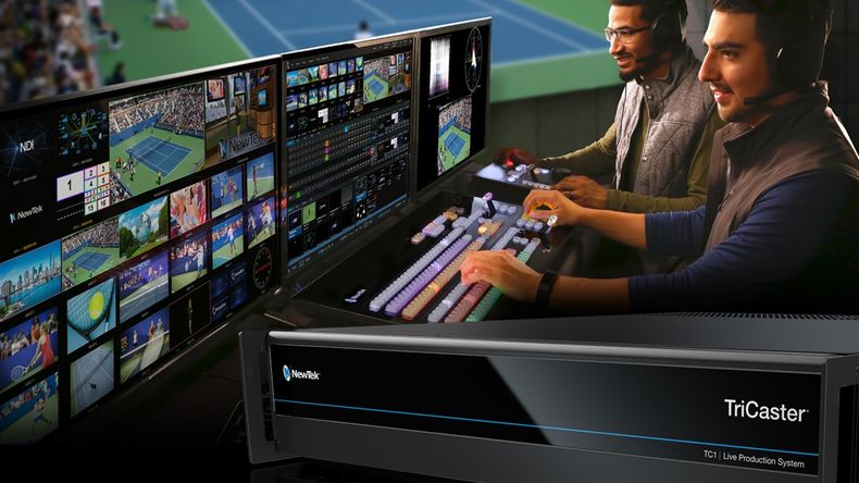 Production crew using the TriCaster TC1