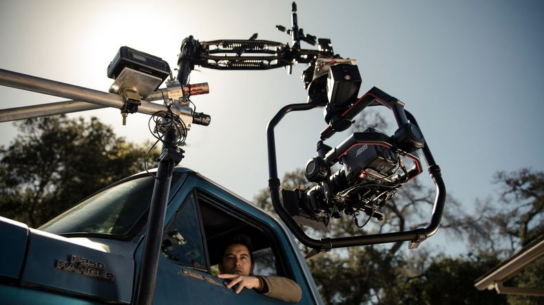 Ronin 2 capturing scene of a man in a car
