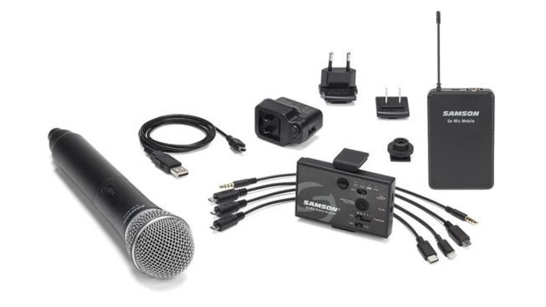 Assortment of products that work with the Go Mic Mobile
