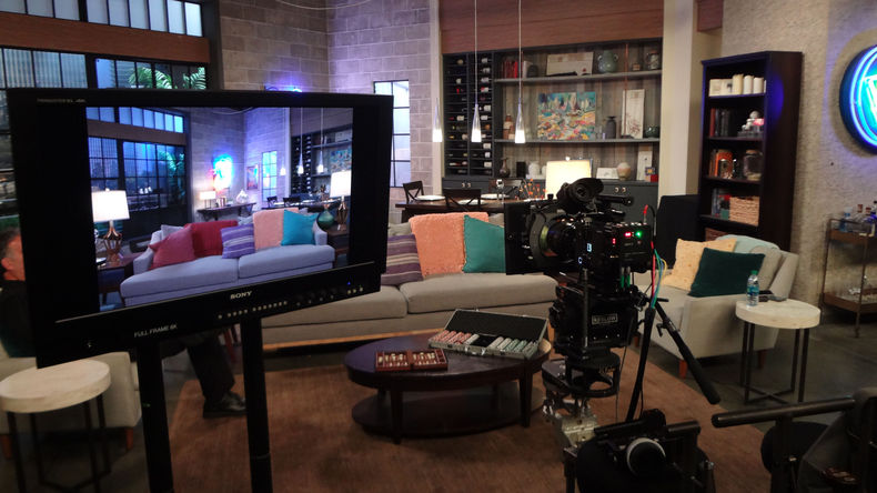 Sony CineAlta VENICE on a set
