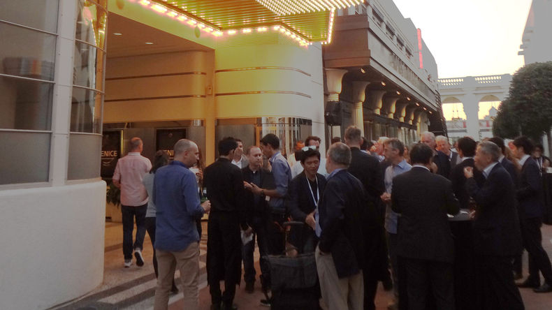 Crowd gathered before Sony CineAlta VENICE presentation