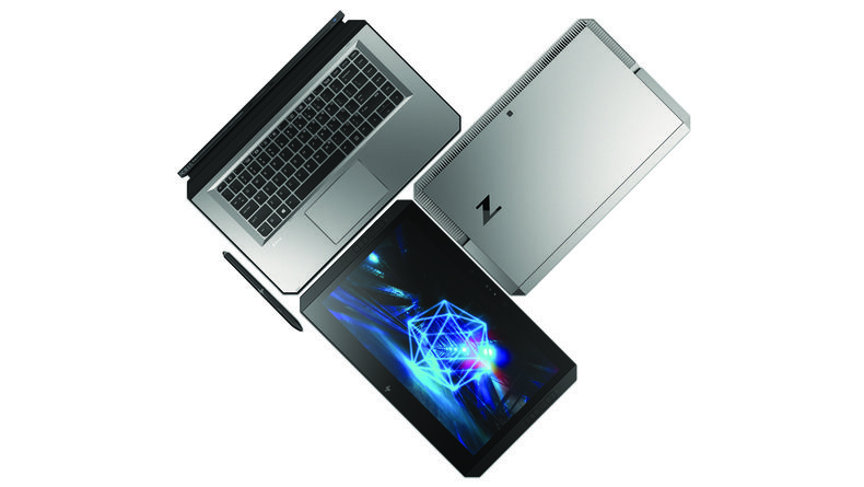 HP ZBook x2 with assessories