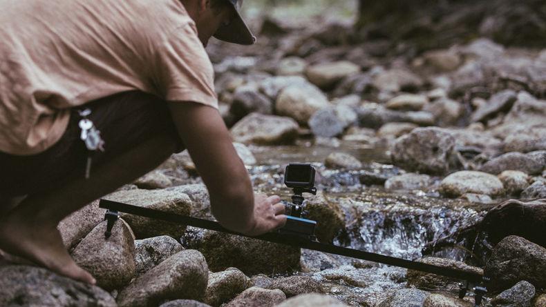 Dyno Equipment's Trek in action over river