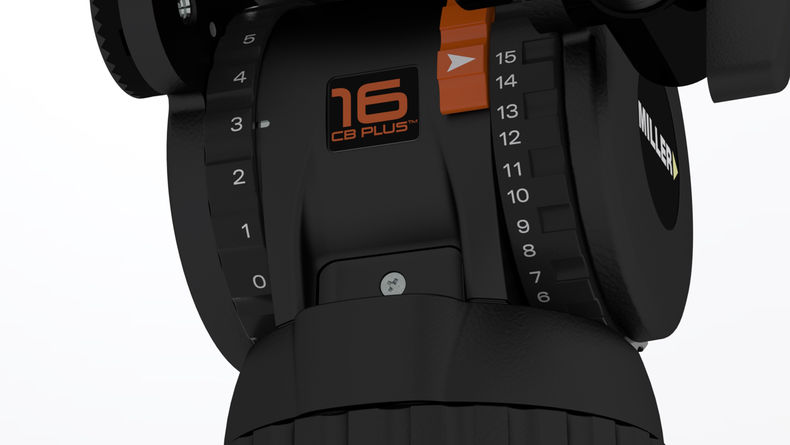 Image of settings for a tripod head from the CompassX series