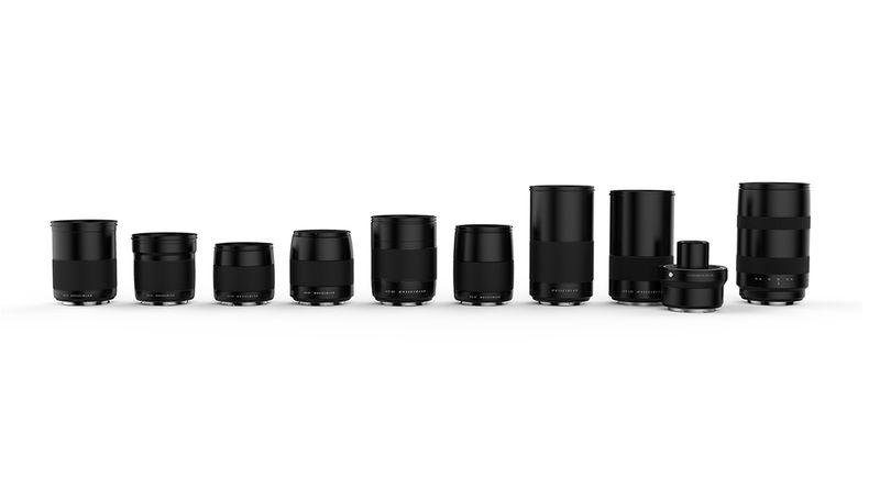 Line of Hasselblad lenses
