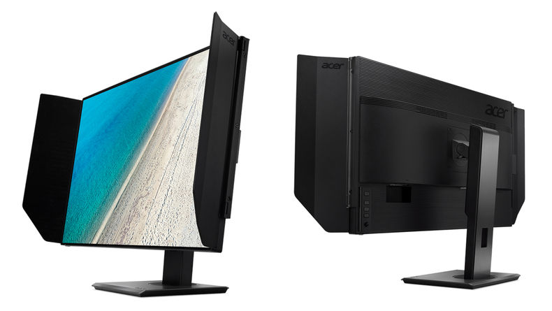 Side images of ProDesigner PE320QK's front and back