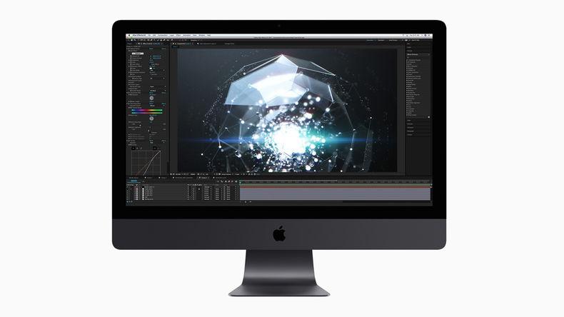 iMac Pro displaying software