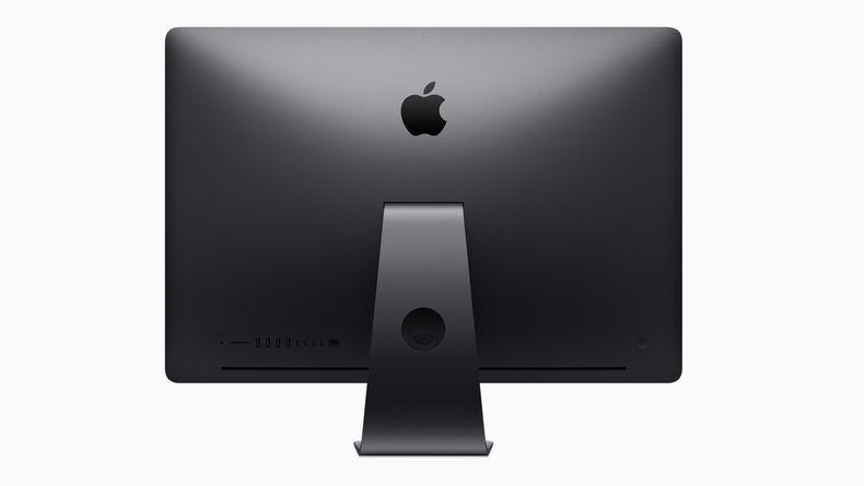 Back of the iMac Pro