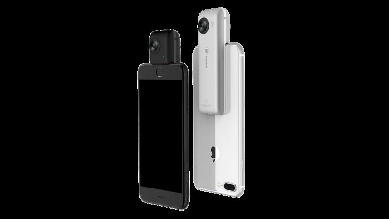 Black and silver version of the Insta360 Nano S