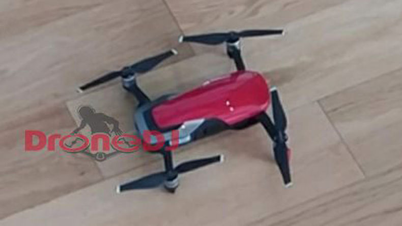 A leaked photo of a red Mavic Air