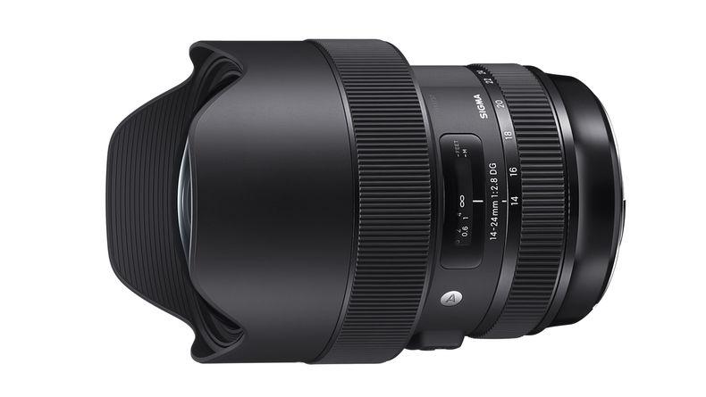 Sigma 14-24mm f/2.8 Art wide-angle zoom lens slightly turned side shot