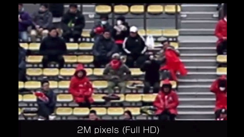 Zoom shot of a crowd in Full HD