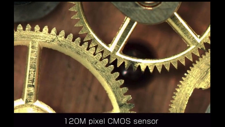 Shot of watch gears with the 120-MP