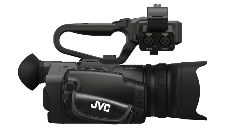 JVC GY-HM250 Side view