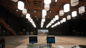 """Toplight: Painting with a Broad Brush. Warner Bros. Studios displays their new line of rentable LED """"space lights"""" for stage use."""
