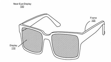 Facebook's design drawing for their upcoming AR glasses