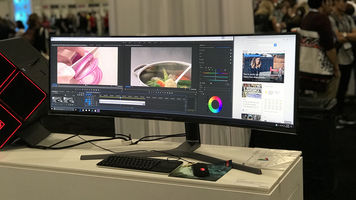Image of C49HG90 49-inch at Adobe MAX 2017