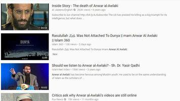 Anwar al-Awlaki videos on YouTube