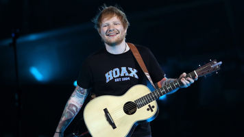 Image of Ed Sheeran on stage