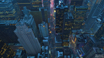 An image of New York overhead from PHFX.com