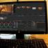 A color correction workstation running DaVinci Resolve.