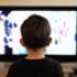 Child watching televison