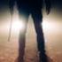Dark silhouette of man