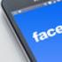 Smartphone displaying Facebook logo