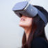 Woman wearing a Google Daydream VR headset