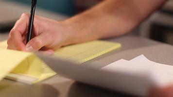 Photo of writing on notepad